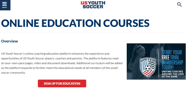 USyouthsoccer Learn Soccer Lessons Online