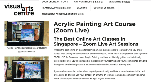 visualartscentre learn acrylic painting lessons online