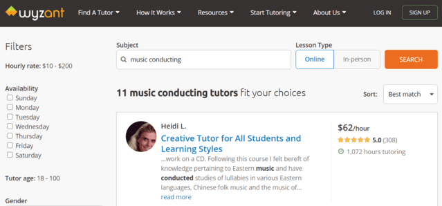 Wyzant Learn Music Conducting Lessons Online