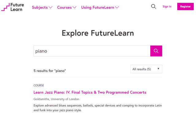 futurelearn learn piano lessons online