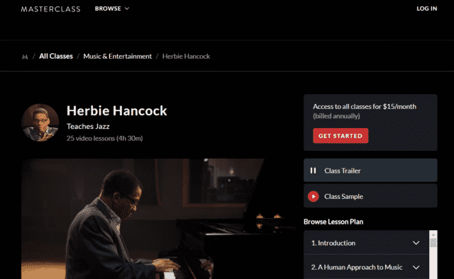 masterclass learn piano lessons online