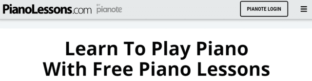 pianolessons learn piano lessons online