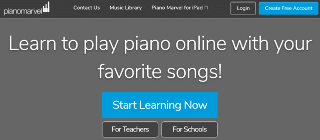 pianomarvel learn piano lessons online