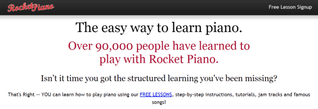 rocketpiano learn piano lessons online