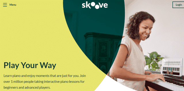 skoove learn piano lessons online