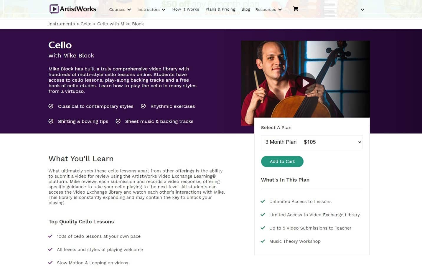 Artistworks Mike Block Cello Lessons Review
