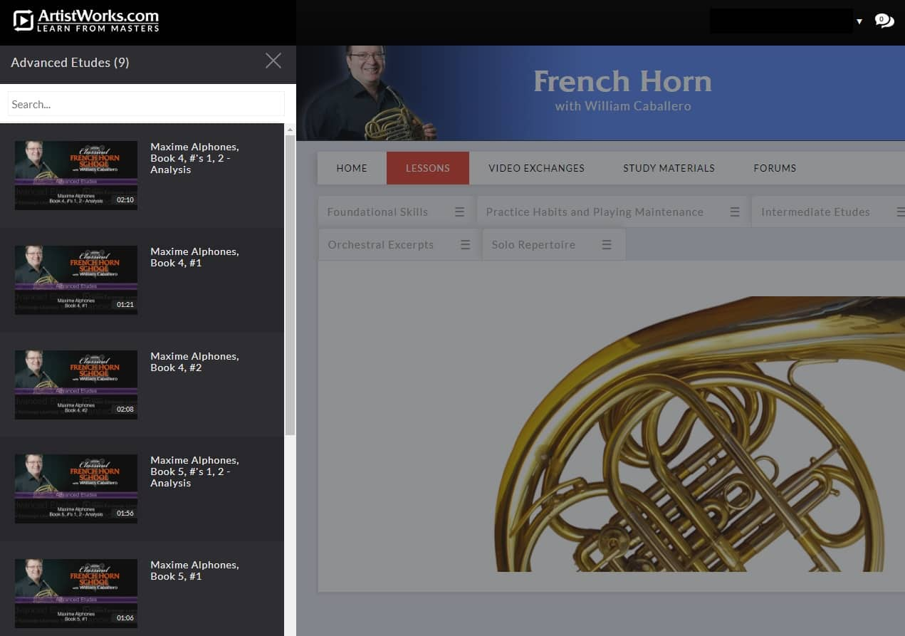 Artistworks french horn lessons