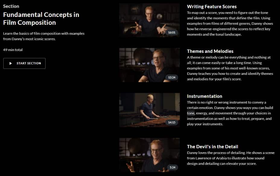 MasterClass Danny Elfman Fundamental Concepts in Film Composition