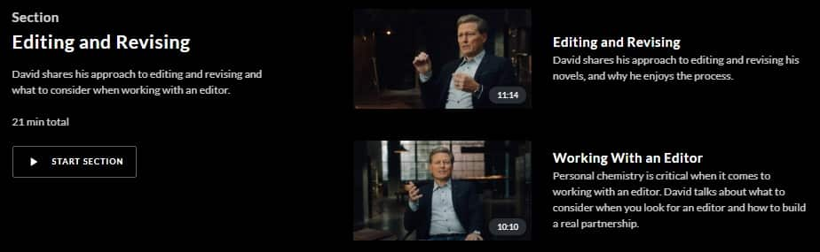 MasterClass David Baldacci Editing and Revising