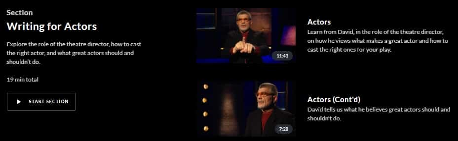 MasterClass David Mamet Writing for Actors