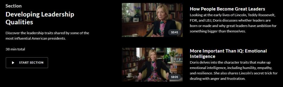 MasterClass Doris Kearns Goodwin Developing Leadership Qualities
