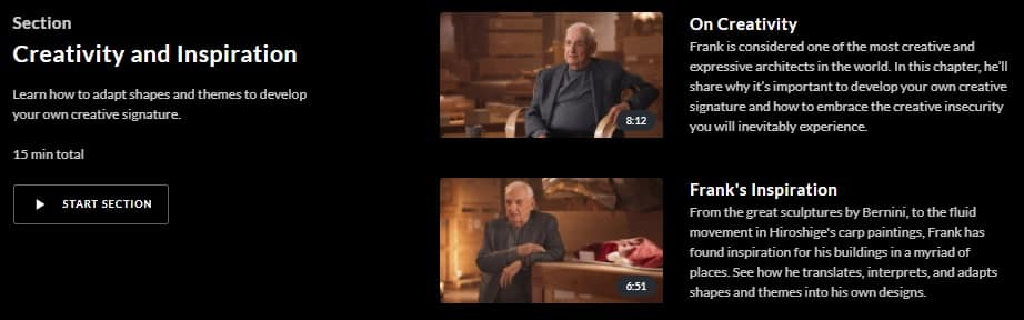 MasterClass Frank Gehry Creativity and Inspiration