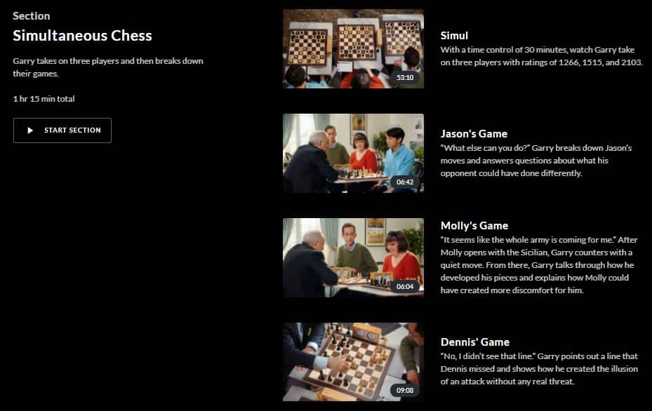 MasterClass Garry Kasparov Simultaneous Chess