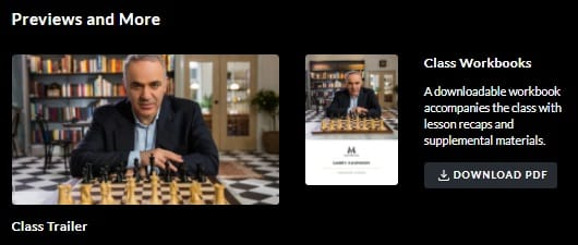 MasterClass Garry Kasparov Workbook