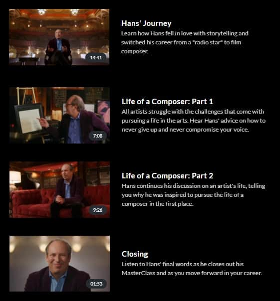 MasterClass Hans Zimmer The Life of a Composer 2