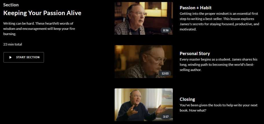 MasterClass James Patterson Keeping Passion Alive