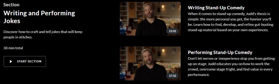 MasterClass Judd Apatow Writing and Performing Jokes