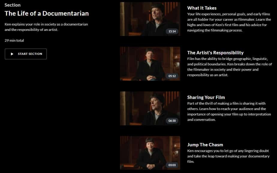 MasterClass Ken Burns Life of a Documentarian