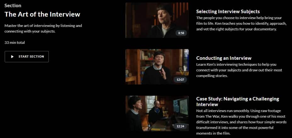 MasterClass Ken Burns The Art of the Interview