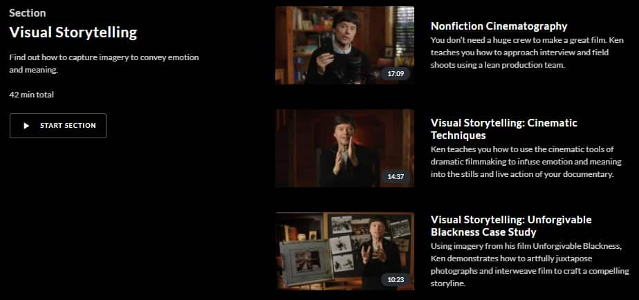 MasterClass Ken Burns Visual Storytelling