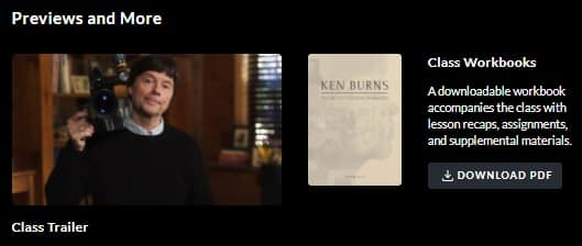 MasterClass Ken Burns Workbook