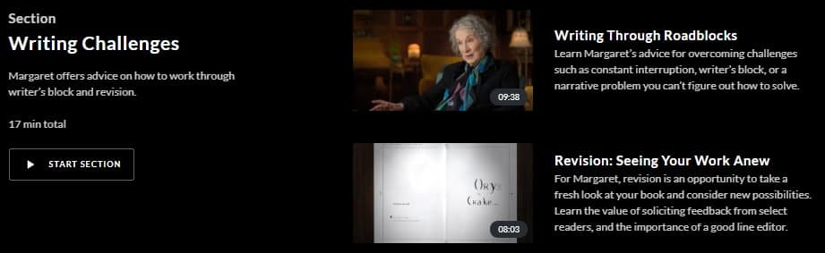 MasterClass Margaret Atwood Writing Challenges