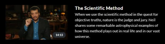MasterClass Neil Degrasse Tyson Scientific Method