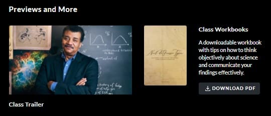 MasterClass Neil Degrasse Tyson Workbook