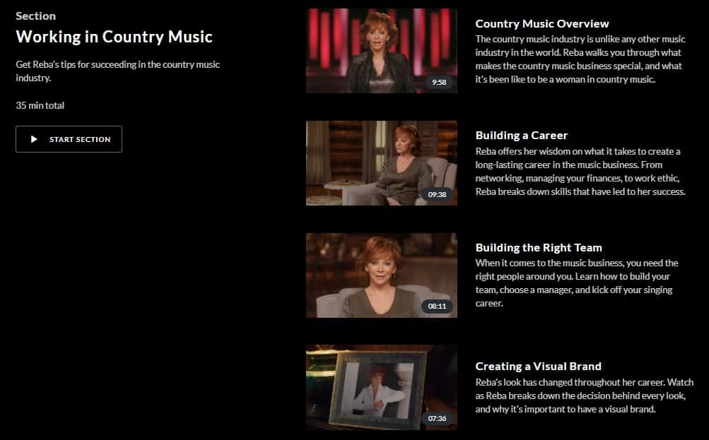MasterClass Reba McEntire Working In Country Music