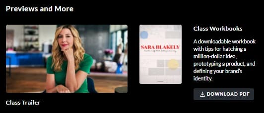 MasterClass Sara Blakely Workbook