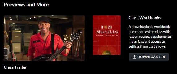 MasterClass Tom Morello Workbook