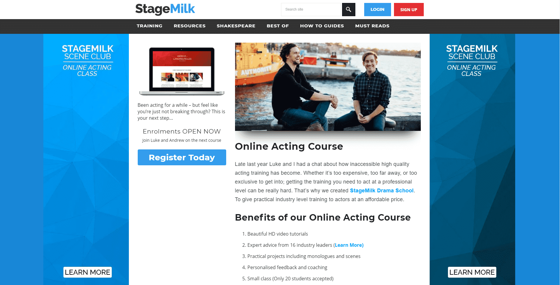 StageMilk Acting Lessons for Beginners