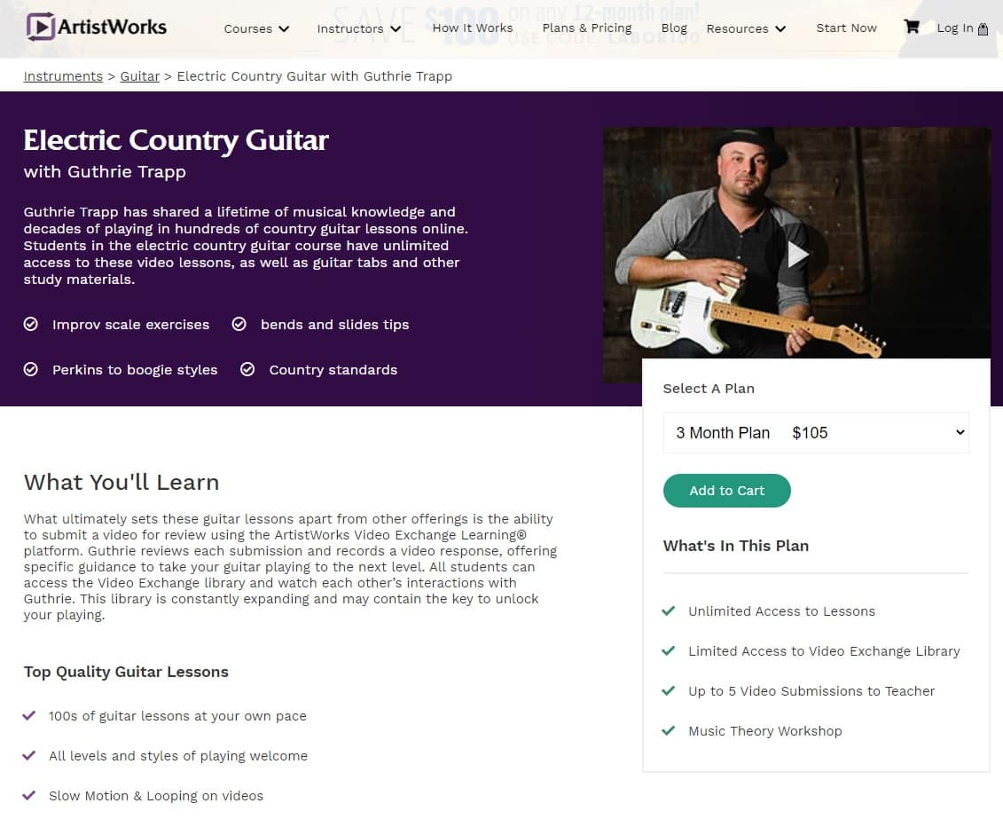 Artistworks Guthrie Trapp Electric Country Guitar Lessons for Beginners