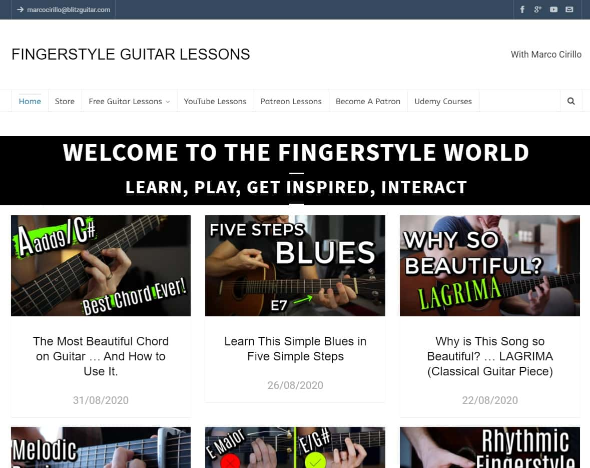 Blitzguitar Fingerstyle Guitar Lessons for Beginners