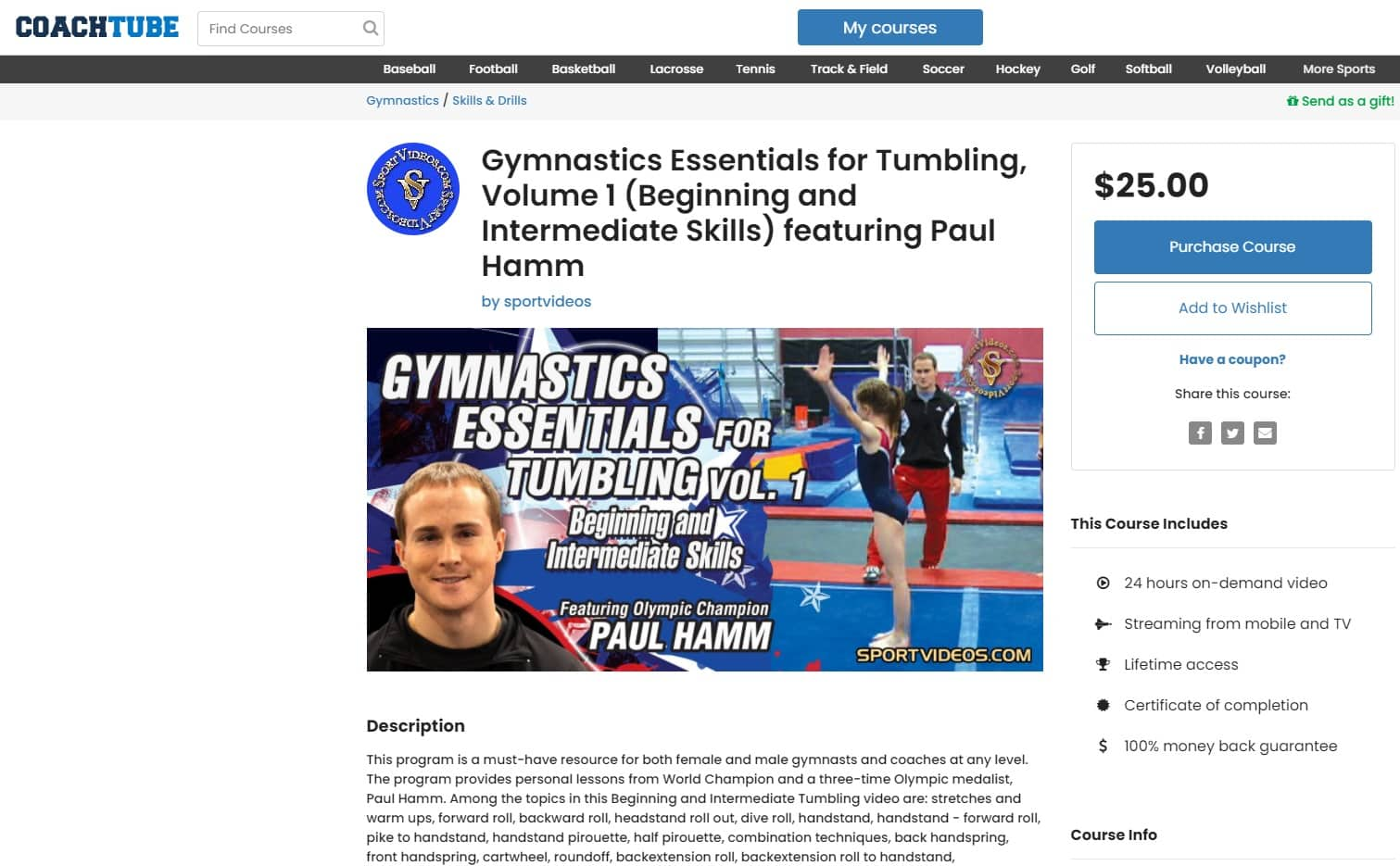 CoachTube Gymnastics Lessons for Beginners