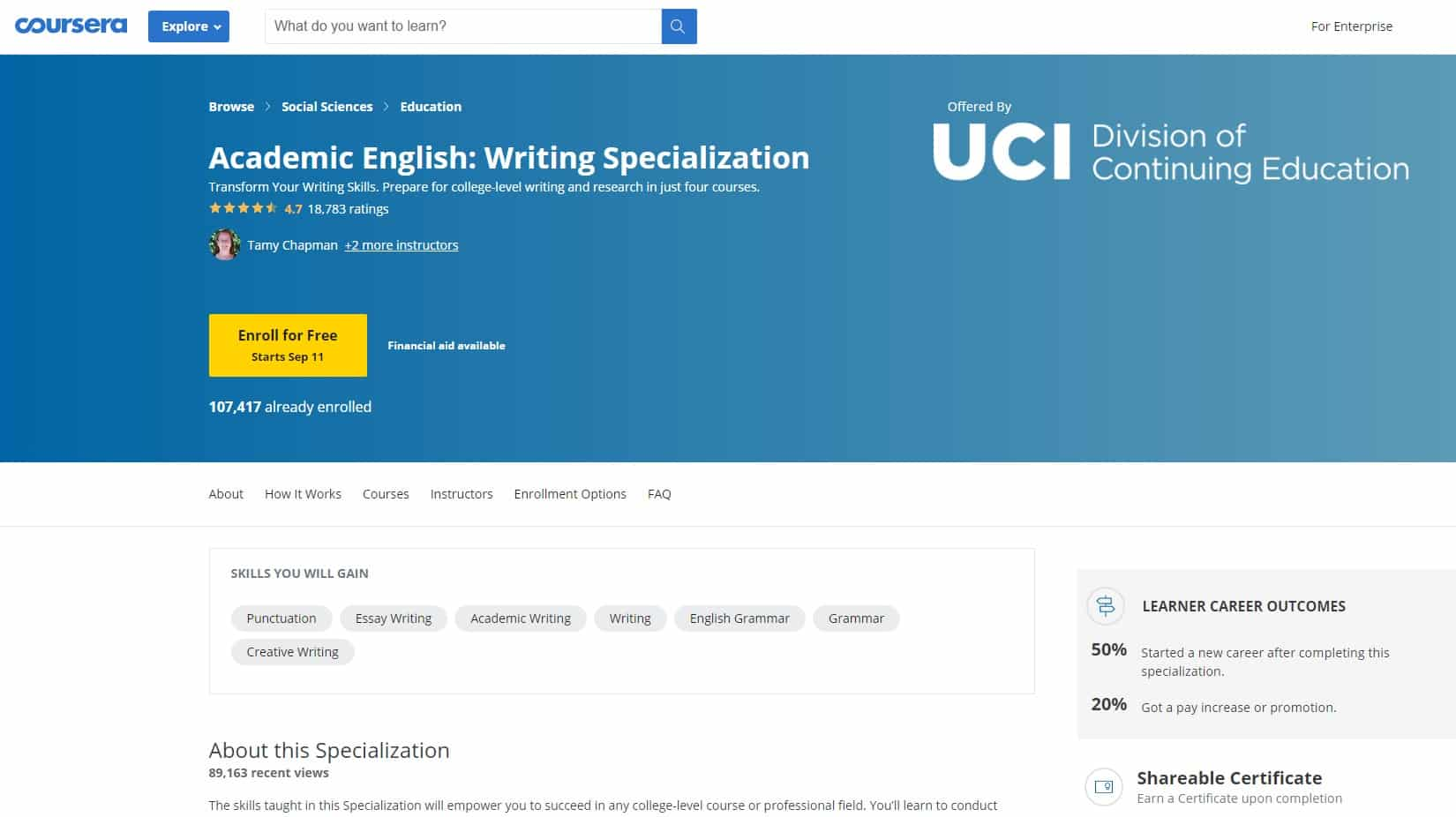 Coursera 1 Writing Lessons for Beginners