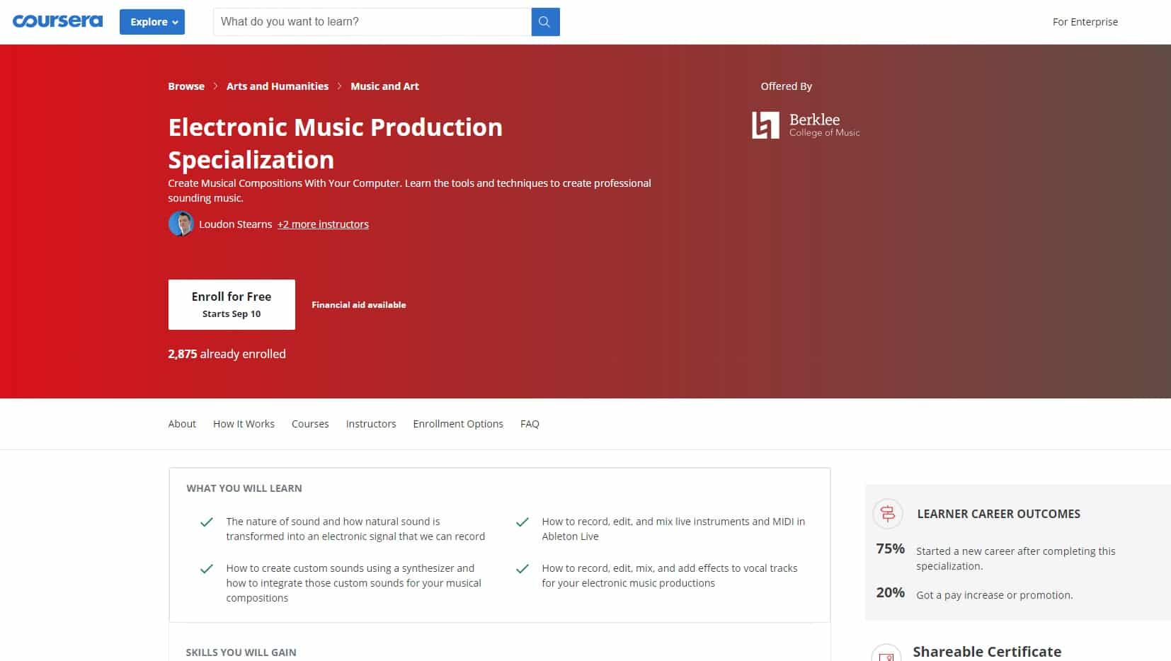 Coursera 2 Music Production Lessons for Beginners