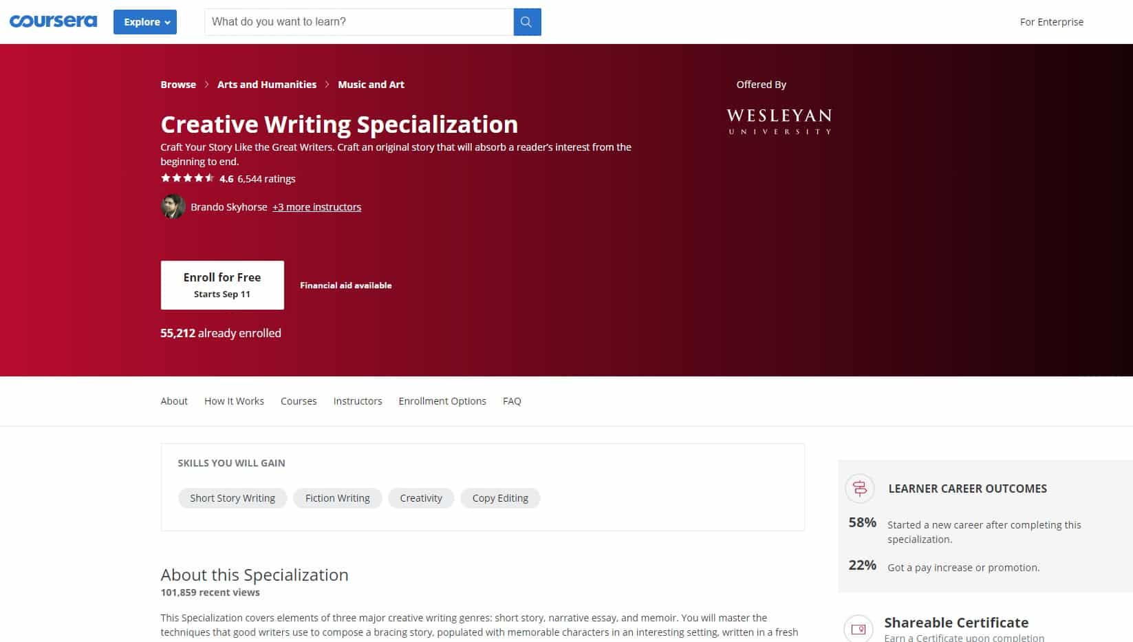Coursera 2 Writing Lessons for Beginners