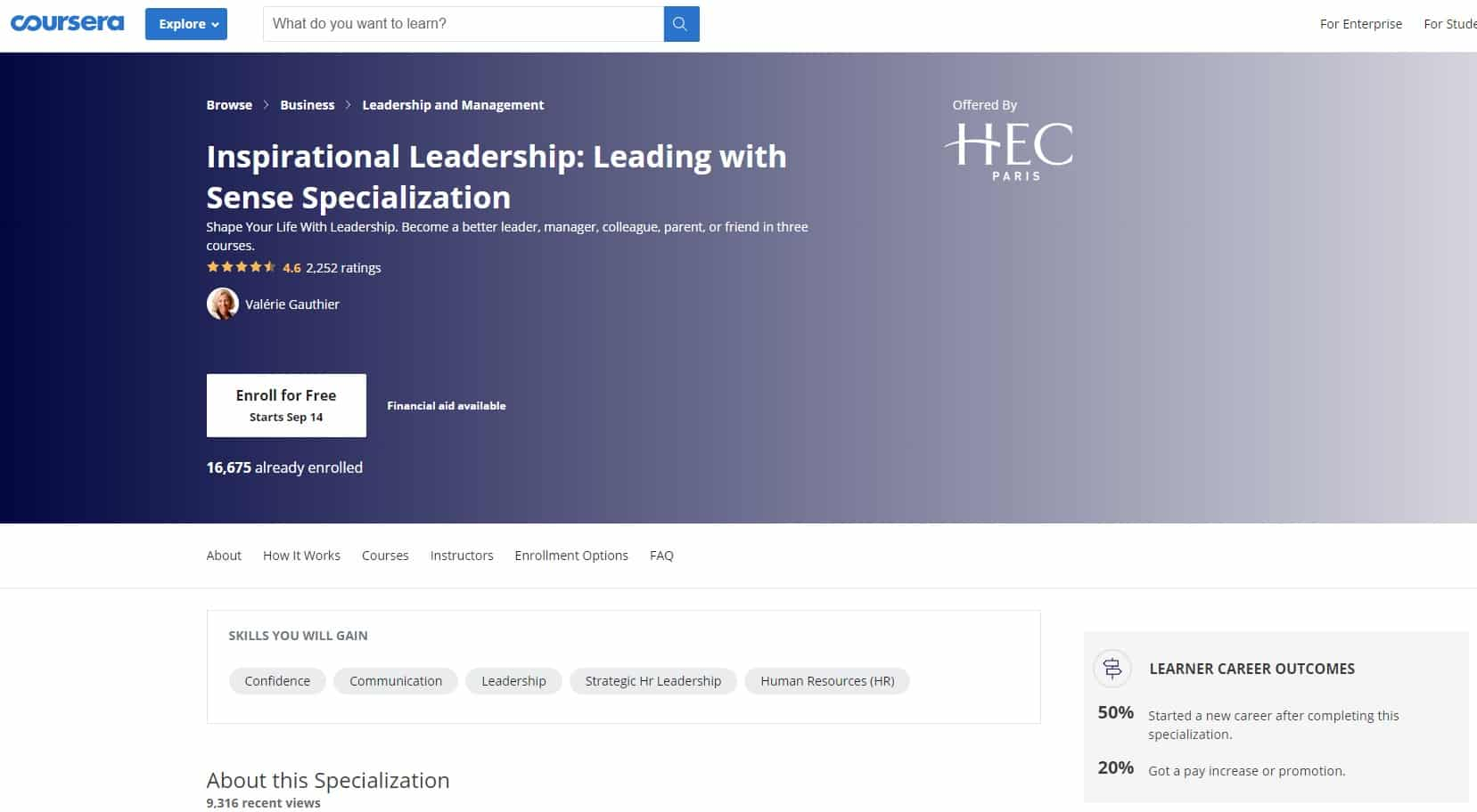 Coursera 4 Leadership Lessons for Beginners