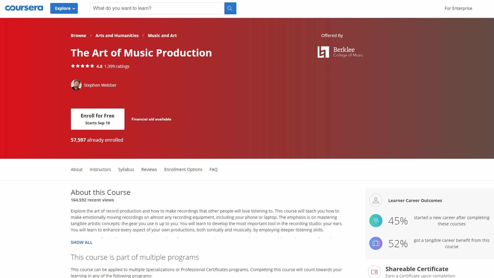 Coursera 4 Music Production Lessons for Beginners