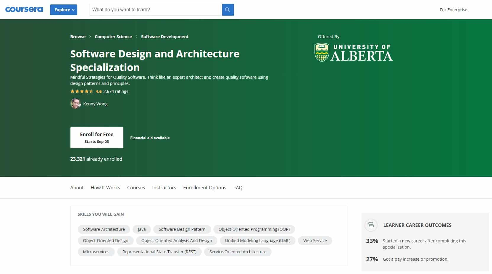 Coursera Design and Architecture Lessons for Beginners