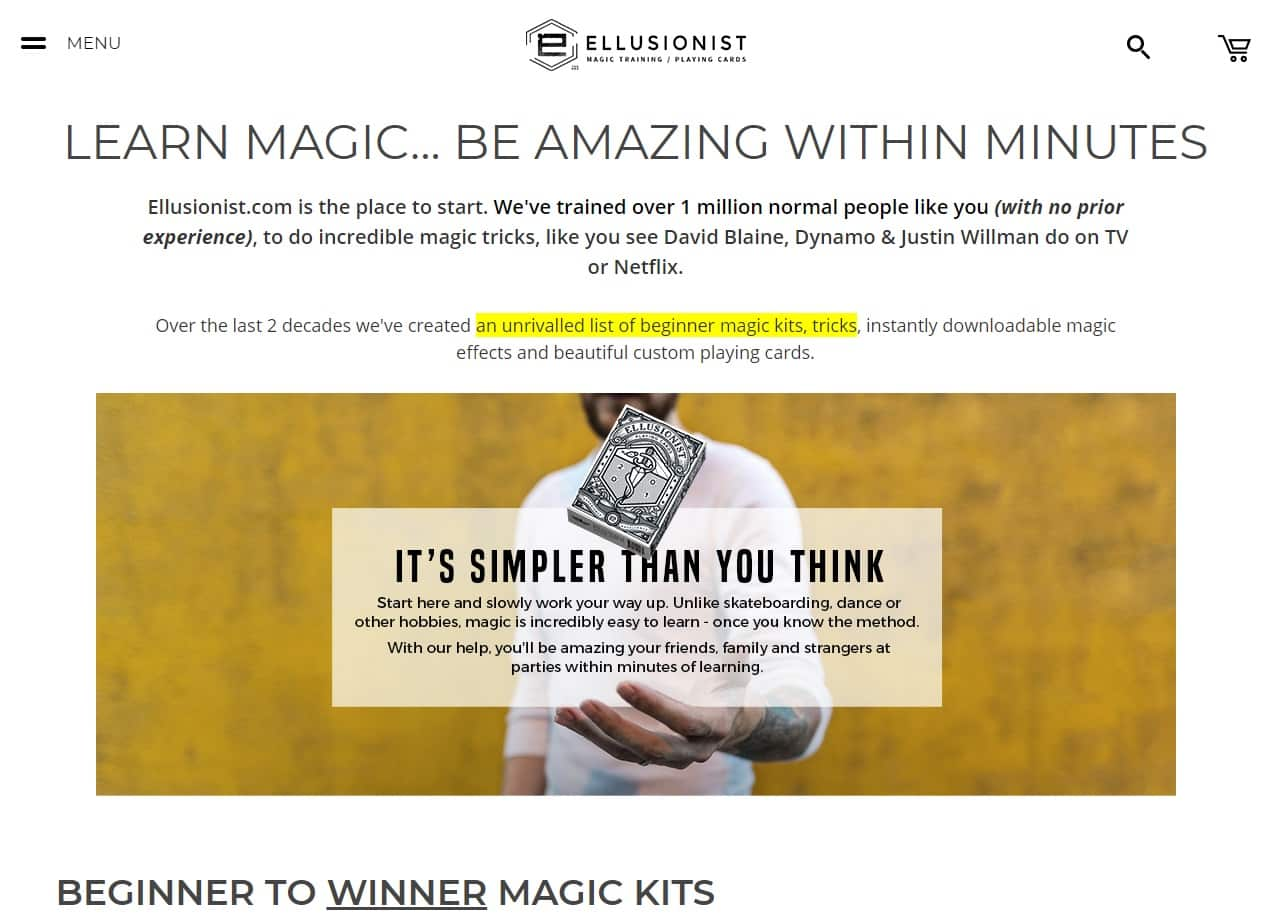 Ellusionist Magic Lessons for Beginners
