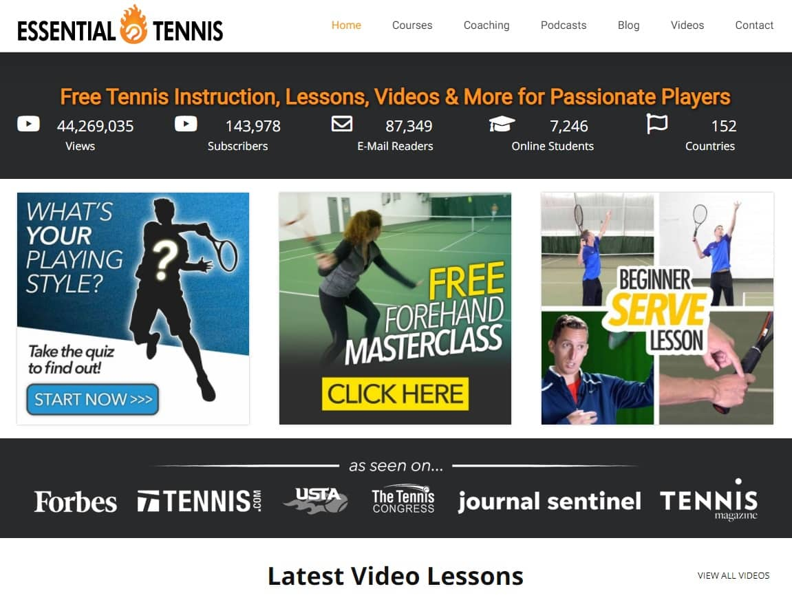 EssentialTennis Tennis Lessons for Beginners