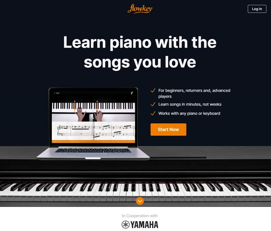 Flowkey Piano Lessons for Beginners