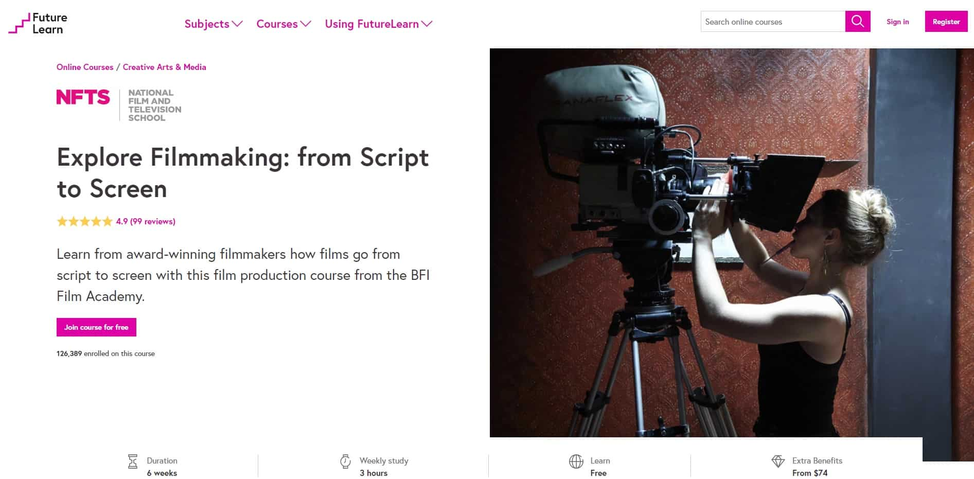 FutureLearn Filmmaking Lessons for Beginners