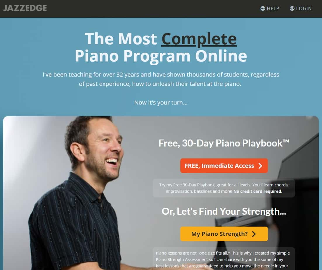JazzEdge Piano Lessons for Beginners