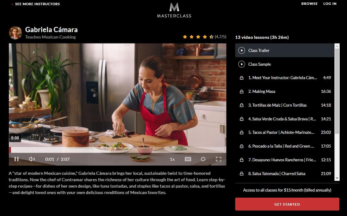 MasterClass Gabriela Cámara's Mexican Cooking Lessons for Beginners