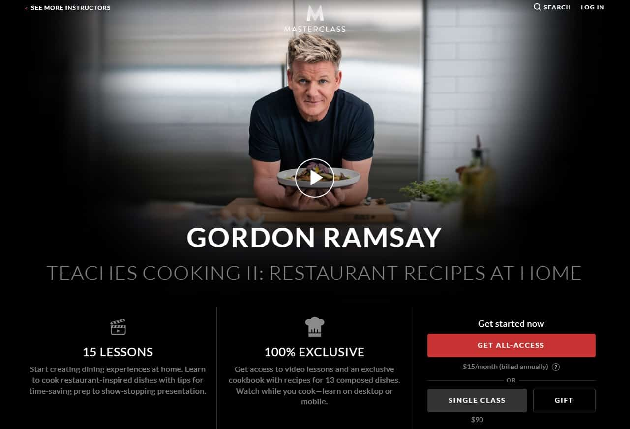 MasterClass Gordon Ramsay Cooking II Restaurant Recipes at Home Lessons for Beginners