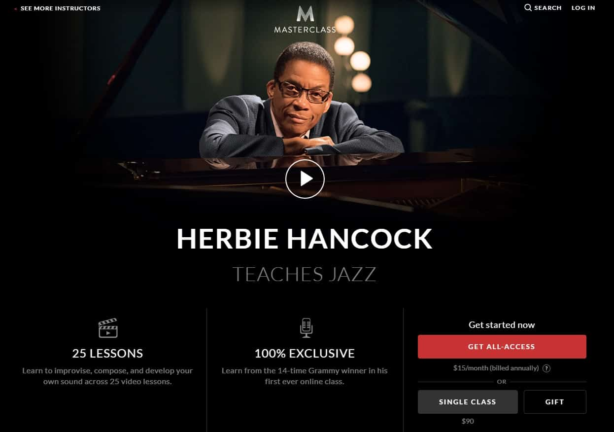 MasterClass Herbie Hancock Jazz Lessons for Beginners