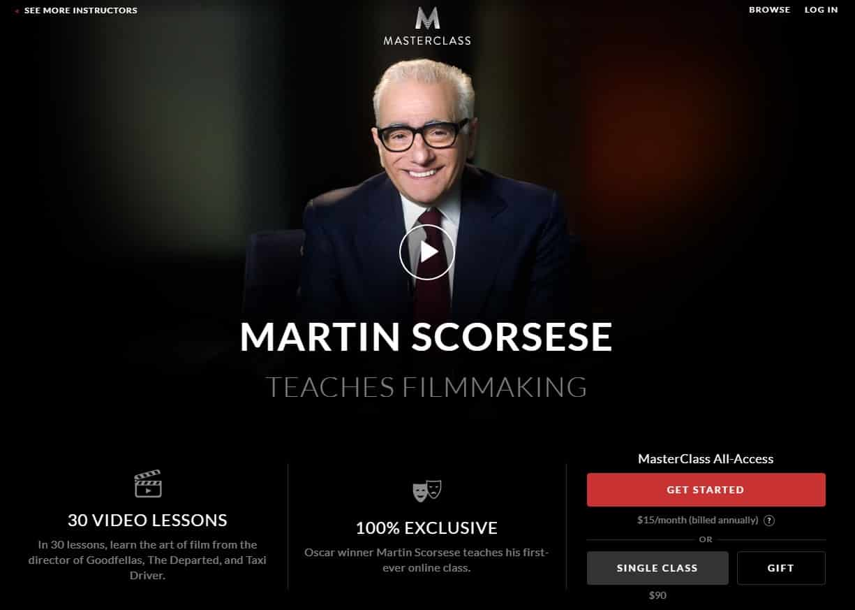 MasterClass Martin Scorsese Filmmaking Lessons for Beginners